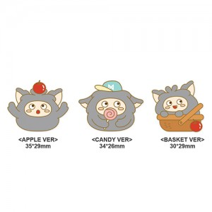 MON.G(十文字) -  OFFICIAL GOODS / PIN BADGE [APPLE VER / CANDY VER / BASKET VER](ピンバッジ)