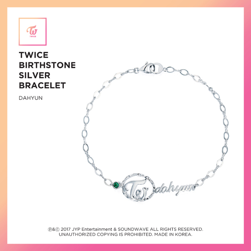 TWICE(トワイス) -  TWICE JEWELRY COLLECTION LIMITED EDITION [BIRTHSTONE SILVER BRACELET  -  DAHYUN]