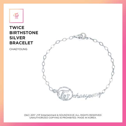 TWICE(トワイス) -  TWICE JEWELRY COLLECTION LIMITED EDITION [BIRTHSTONE SILVER BRACELET  -  CHAEYOUNG]